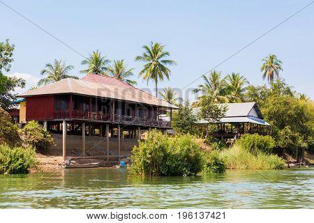 Don Det From Boat Mekhong