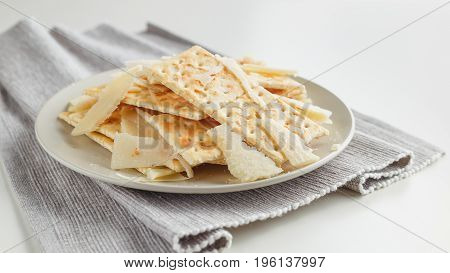 Snack Plate Of Cheese And Crackers