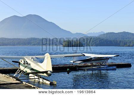 Sea Planes At Dock In Tofino, Vancouver Island, Canada