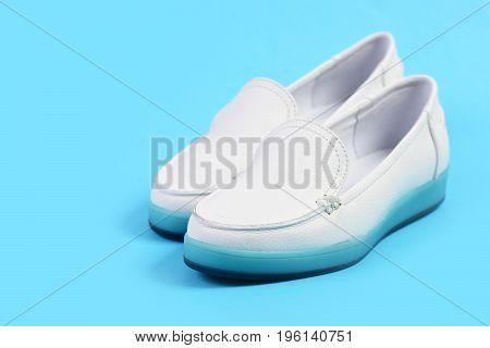 Low Heel Footwear In Sports Style. Moccasins For Women