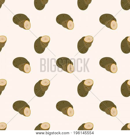 Seamless Background Image Colorful Vegetable Food Ingredient Potato