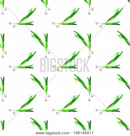 Seamless Background Image Colorful Vegetable Food Ingredient Scallion Green Onion