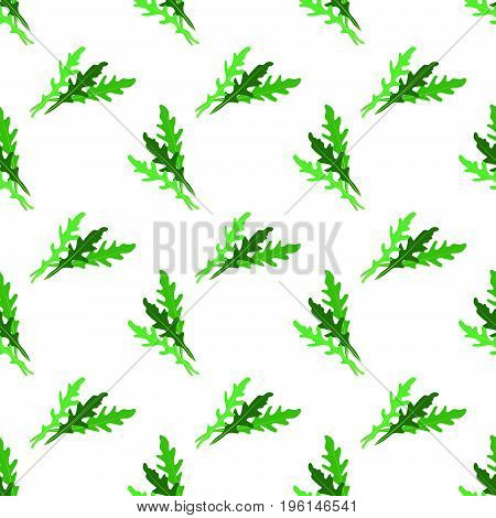 Seamless Background Image Colorful Vegetable Food Ingredient Arugula Rucola Leaf