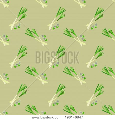 Seamless Background Image Colorful Vegetable Food Ingredient Lemongrass