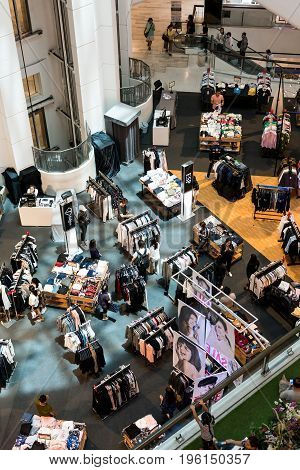 Central Department Store, Bangkok, Thailand - July 10, 2017: Mall SALE There are people interested in shopping.