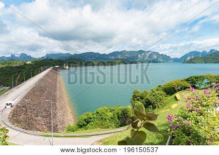 View At Ratchadapha Dam At Surat Thani