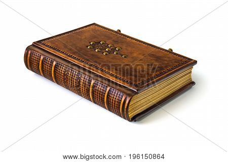 Leather book with The Tree of Life symbol