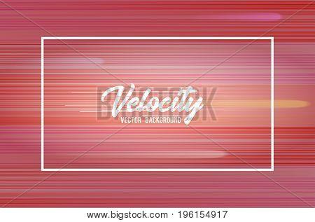 Velocity vector background 01. Speed movement pattern design concept