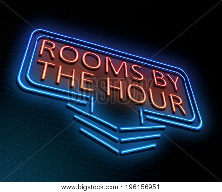 Rooms By The Hour Concept.