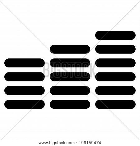 Coin Columns vector icon. Flat black symbol. Pictogram is isolated on a white background. Designed for web and software interfaces.
