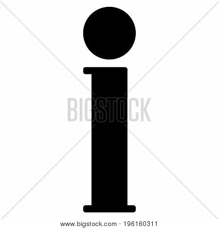 Information vector icon. Flat black symbol. Pictogram is isolated on a white background. Designed for web and software interfaces.