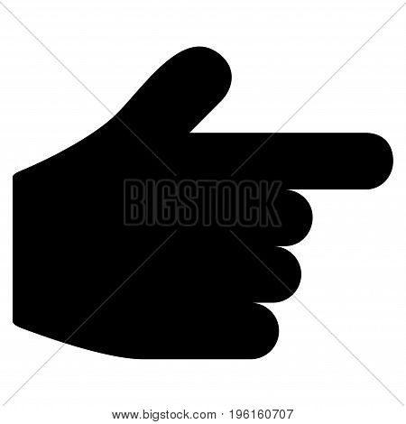 Pointer Finger vector icon. Flat black symbol. Pictogram is isolated on a white background. Designed for web and software interfaces.
