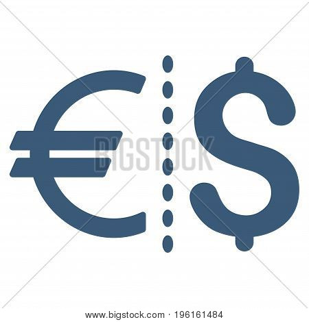Currency vector icon. Flat blue symbol. Pictogram is isolated on a white background. Designed for web and software interfaces.