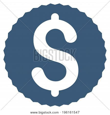 Dollar Coin vector icon. Flat blue symbol. Pictogram is isolated on a white background. Designed for web and software interfaces.