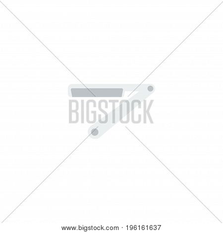 Flat Icon Straight Razor Element. Vector Illustration Of Flat Icon Blade Isolated On Clean Background