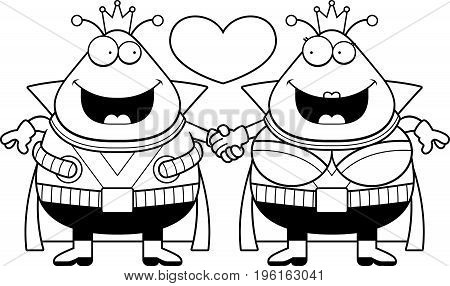 Cartoon Martian Couple