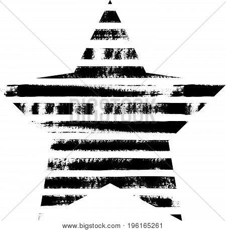 Hand Drawn Textured Star