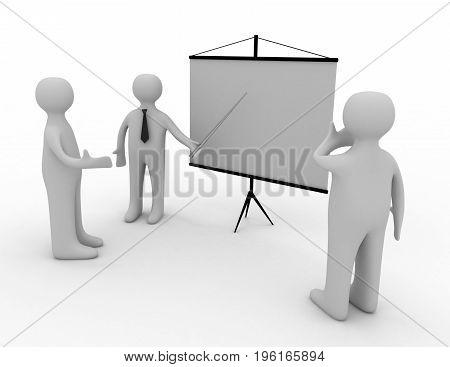3d man conferencе  . 3d rendered  illustration