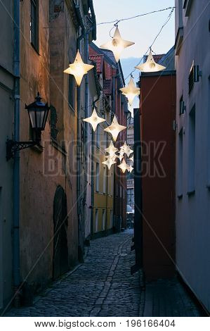 Narrow Street In Riga