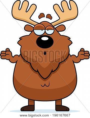 Confused Cartoon Moose