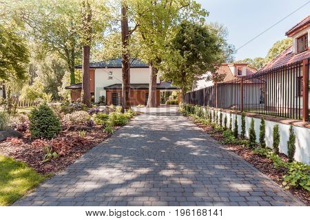 Garden Pathway To Family House