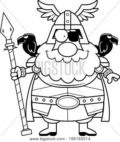 Happy Cartoon Odin