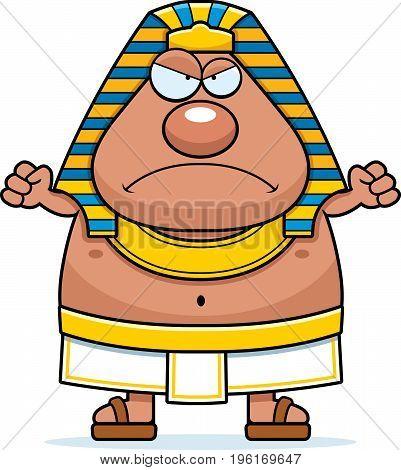 Angry Cartoon Egyptian Pharaoh