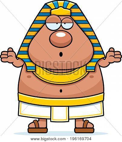 Confused Cartoon Egyptian Pharaoh