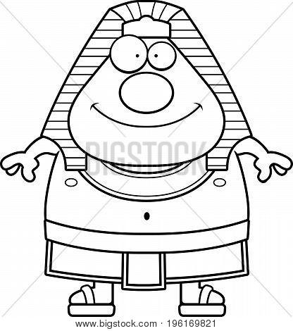 Happy Cartoon Egyptian Pharaoh
