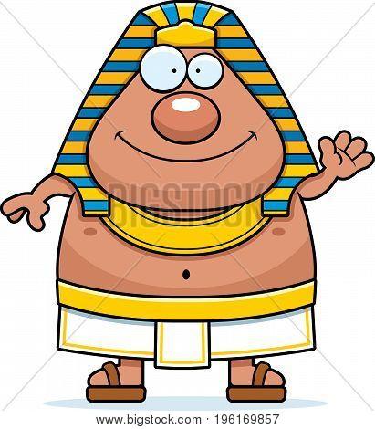 Cartoon Egyptian Pharaoh Waving
