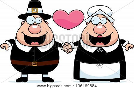Cartoon Pilgrim Couple
