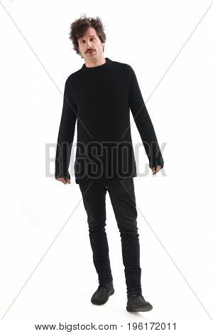 An attractive man on a white background