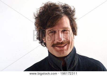 Portrait Of An Attractive Man On White Background