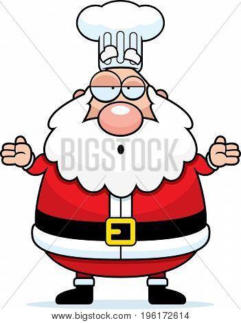 Confused Cartoon Santa Claus Chef