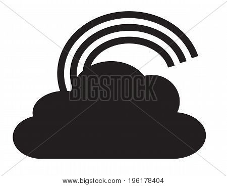 rainbow icon on white background. rainbow sign. flat style design.
