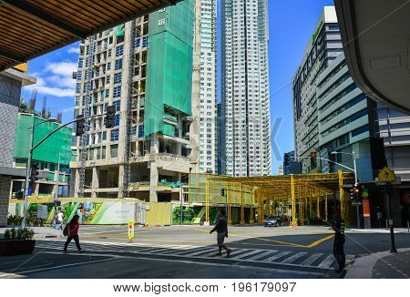 Modern Buildings In Manila, Philippines