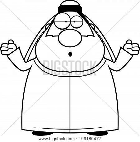 Confused Cartoon Sheikh