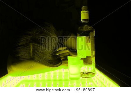 Alcohol Intoxication Concept