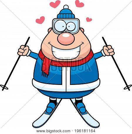 Cartoon Skier Love