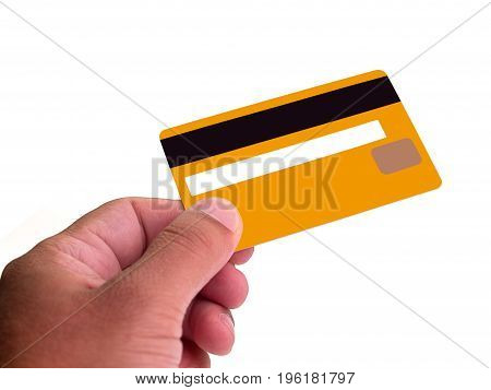 (Close up) Businessman Hand holding credit card.