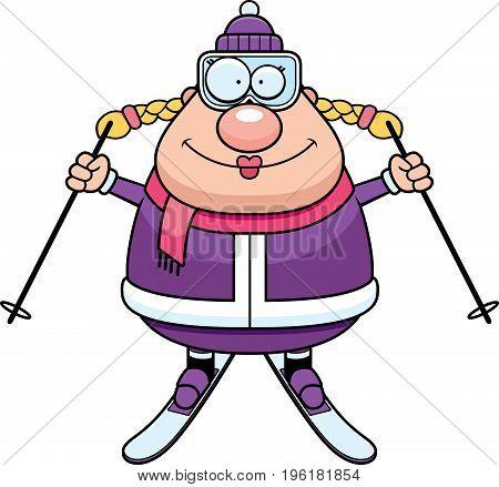 Happy Cartoon Skier