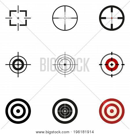 Vector Set of Aiming Icons. Target Symbols on White Background