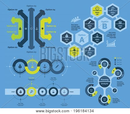 Business solutions chart. Business data. Creative concept for infographic, various business templates, presentation, marketing, annual report. Can be used for topics like strategy, enterprise, project