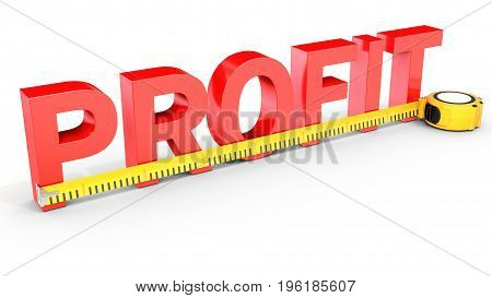 Measuring Business Profit With Tape Measure