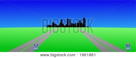 Atlanta Skyline And Interstates