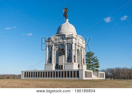 Pennsylvania Monument at Gettysburg National Battlefield, Pennsylvania