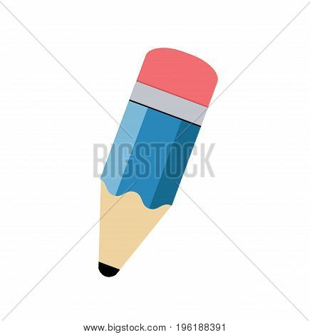 Pencil flat icon isolated on white background. Pencil logo/ symbol. Vector stock.