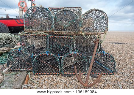Lobster Pots And Boat
