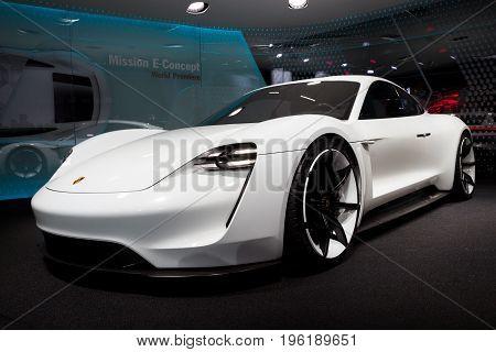 Porsche Mission E Concept Sports Car