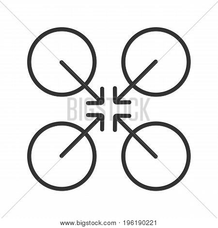 Cooperative symbol linear icon. Thin line illustration. Cooperation and teamwork abstract metaphor. Contour symbol. Vector isolated outline drawing